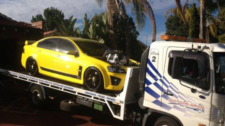 Prestige car towing