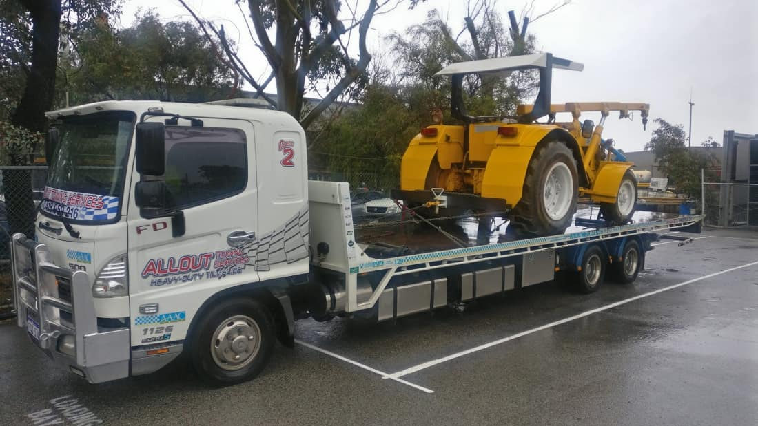 Heavy machinery towing